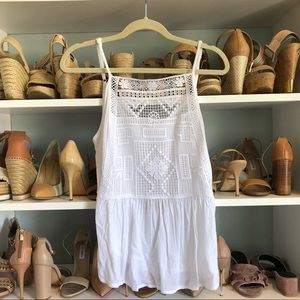 Cotton On White Detailed Tank Blouse